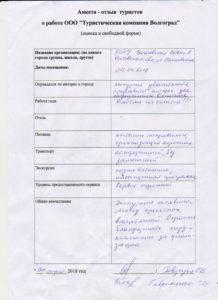 Отзыв туриста из Ростова